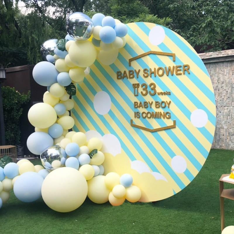 Macaron Balloons 1st Birthday Party Decorations Kids Balloon Arch Set Blue Yellow Jumbo DIY Wedding