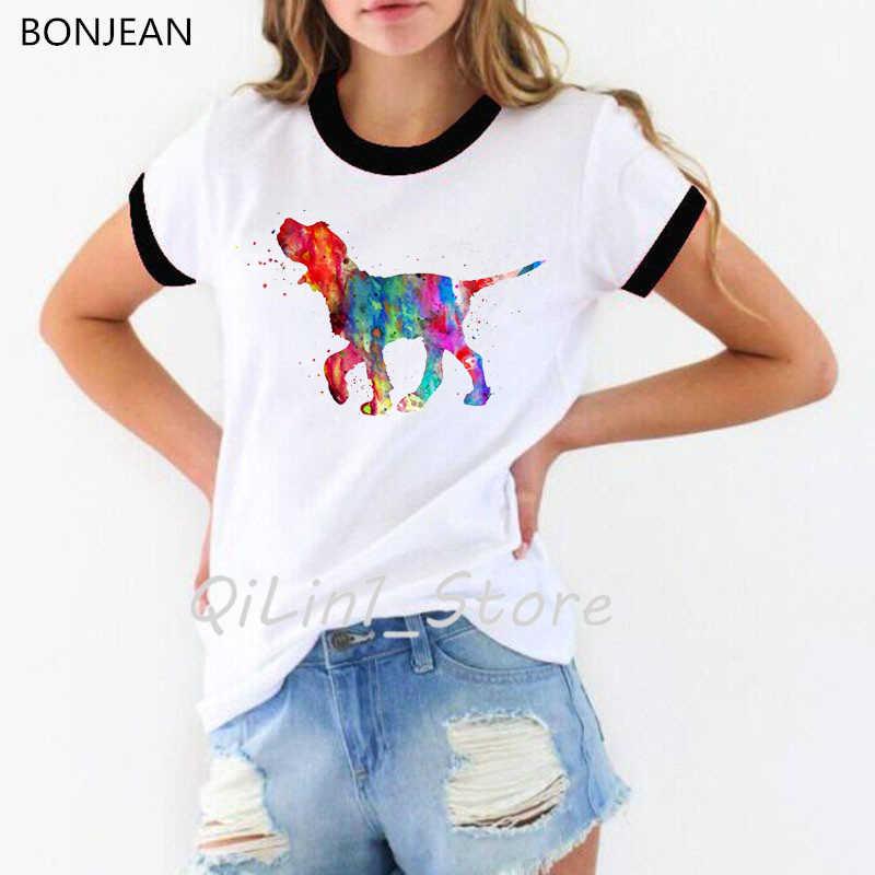 Neuheit design Bull Terrier aquarell druck t shirt frauen sommer tops t-shirt femme lustige hund liebhaber t-shirt weibliche streetwear