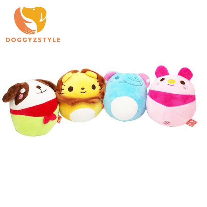 Pet Supply Soft Plush Animal Elephant Lion Dog Sound Chew Toys Puppy Cat Products For Small Dogs Teddy Chihuahua DOGGYZSTYLE