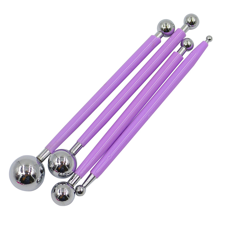 Professional 4pcs/set DIY Polymer Clay Tools Slime Tool Sculpture Tool Toys for Clay Carving Molding Ball Sticks Stainless Steel(China)