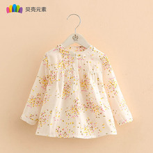 Spring Hot Sale White 100% Cotton Shirts Baby Girl Shirt Children Clothes Kids Long Sleeve Girls Tops Children's Clothing