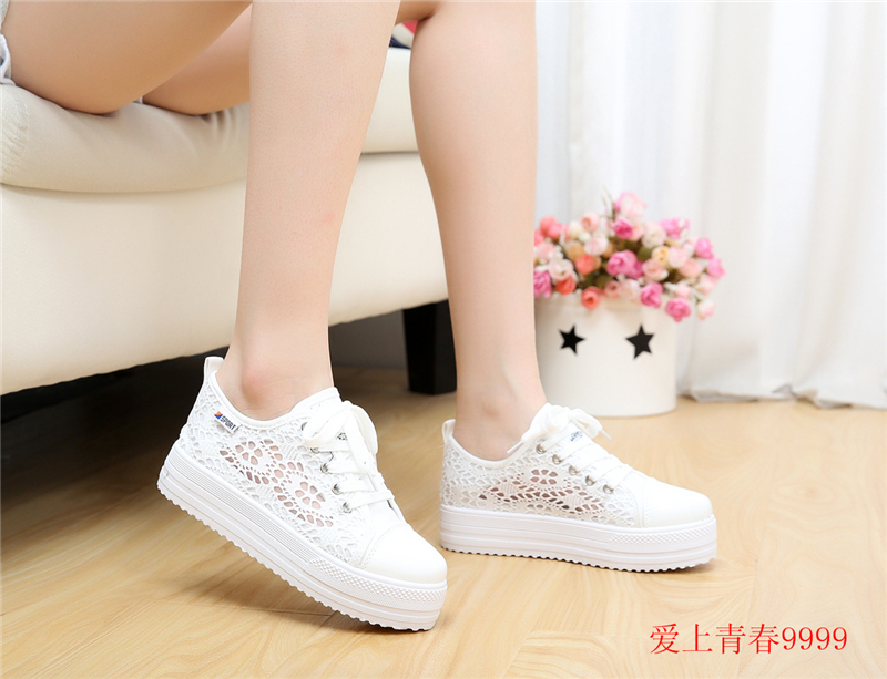 casual canvas lace shoes flat