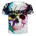 Nova Marca de Moda T-shirt Masculina Hip Hop 3d Imprimir Crânios Harajuku Animação 3d camiseta Verão Fresco T Encabeça Marca roupas