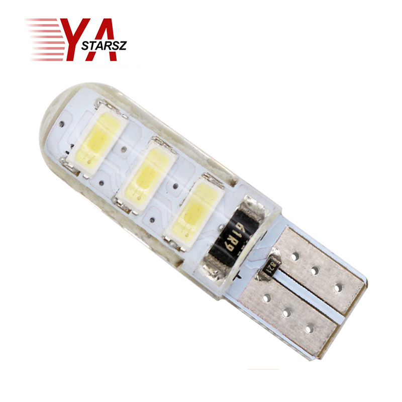 1pcs T10 W5W LED COB Car Light Bulb SMD 5050 5730 2835 Silicone Waterproof Universal Auto Wedge Light Headlamp Signal Light 12V h7 cob led car headlight bulb kit 72w 8000lm auto front light h7 fog light bulb 6500k 12v 24v led automotive headlamp lighting