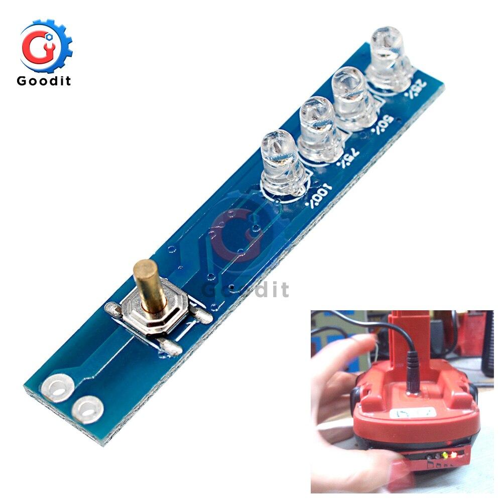1S Lithium Battery Capacity Indicator Tester LED Display Board Power Level Indicator For 1pcs 18650 Lithium Li-ion Lipo Battery