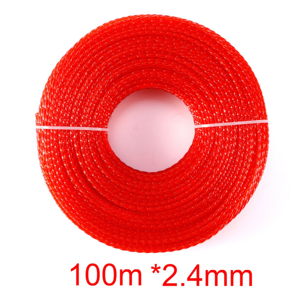 1pc Trimmer Line Nylon Accessory Replacement Wire Rope 100m*2.4mm Lawnmower Part1pc Trimmer Line Nylon Accessory Replacement Wire Rope 100m*2.4mm Lawnmower Part
