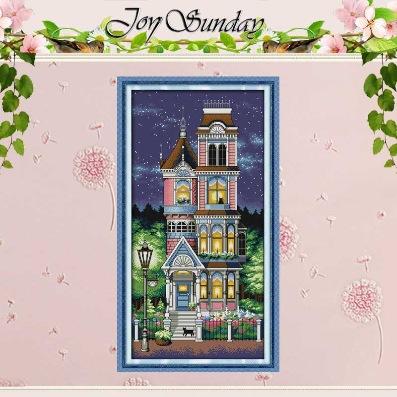 Malam Tenang Dihitung Stitch Cross Cina 11CT 14CT Stitch Cross Handmade Tetapkan pemandangan Cross-stitch Kit Embroidery Needlework
