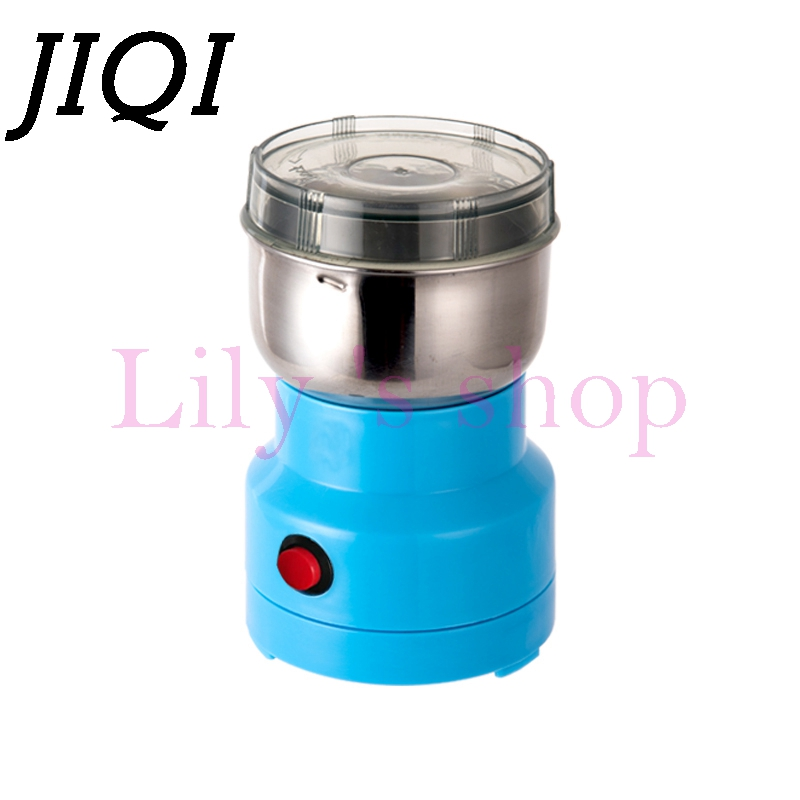 JIQI mini electric coffee beans grinder Stainless steel Chinese herbs medicine grains crusher mill grinding Spice powder 100g EU dry food grinder machine swing type electric grains herbal powder miller high speed spices cereals crusher w ce ccc