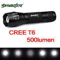 SKYWOLFEYE T90 Zoomable T6 LED Flashlight Torch Waterproof 500LM 5 Mode LED Flash Light Torch Lamp for Outdoor Camping Hiking