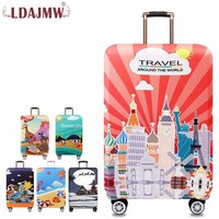 LDAJMW Brand Fashion Travel Waterproof Luggage Cover Elastic Stretch Protect Suitcase Cover To 18 32 Dust