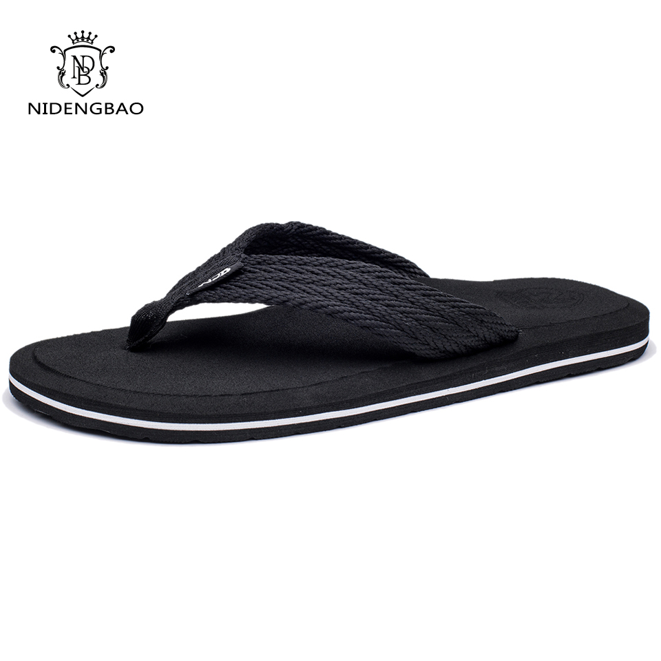 NEEDBO 2017 Flat Sandals Men Slippers Shoes Comfortable Flip Flops Casual Summer Beach Sapatos Hembre sapatenis masculino