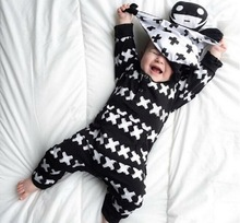 2016 new born clothes baby boy clothes Long sleeve baby romper baby girl clothing jumpsuit toddler suit infant clothing