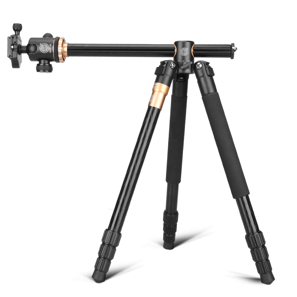 Moveski Q999H Transverse Professional Aluminium Alloy Camera Tripod & Ball Head 360 degree Macro Shooting For DSLR SLR Camera