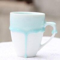 Drop Shipping! Mug Color Flowing Drop Coffee Cup Creative Ceramic Mug Artwork Home Office Decorative Gifts