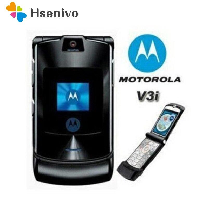 100% ORIGINAL Motorola RAZR V3i DESBLOQUEADO GSM Telefone Celular Flip Telefone Bluetooth Um Ano de Garantia Frete grátis