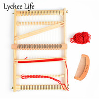 Lychee Life Wooden Weaving Knitting Machine Multifunction Big Size Sewing Machines DIY Handmade Sewing Home Tools Acceesories