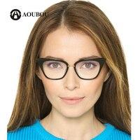 Cateye Eyeglasses Frame Women Acetate Myopic Reading Glasses Tortoise Color Lentes Opticos Mujer GX004