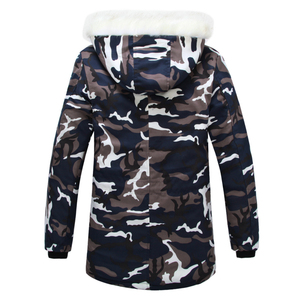 Image 2 - Camouflage Down Parkas Jackets  2020 Mens Parka Hooded Coat Male Fur Collar Parkas Winter Jacket Men Military Down Overcoat
