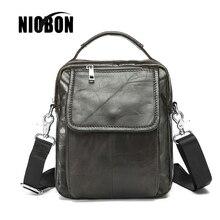 NIOBON Vintage Men's Bag Handbags Genuine Leather Men Shoulder Bags Retro Cowhide Men Crossbody briefcase bag