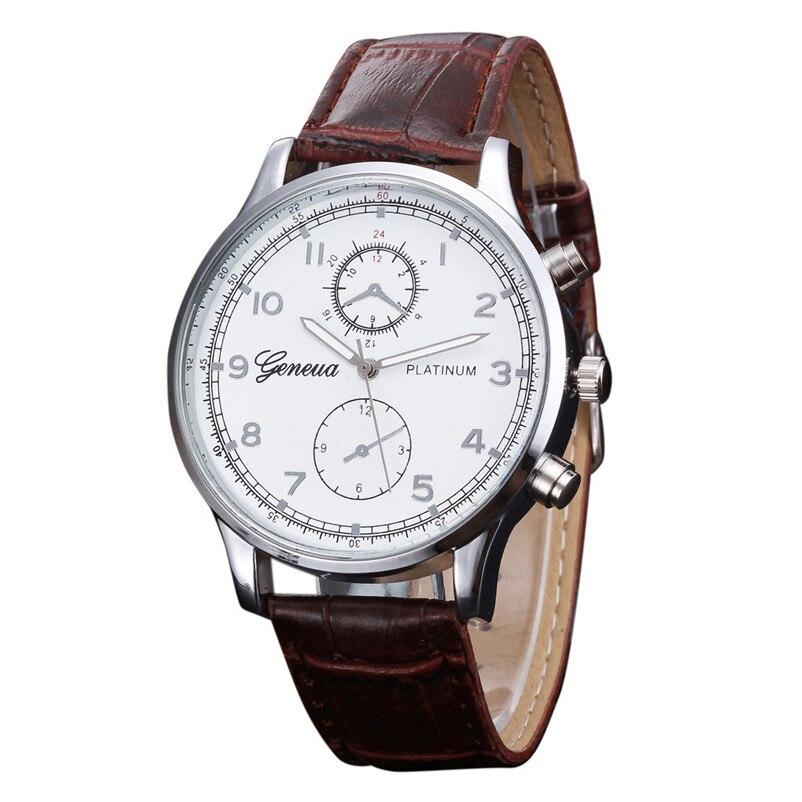 Best match relogio masculino watch men high quality Leather Band Analog Alloy Quartz Wrist Watch clock horloges mannen gift 2018