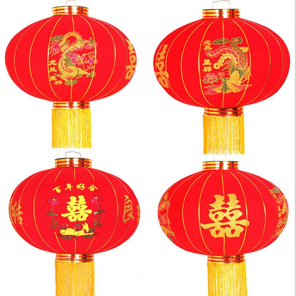 Wedding Lantern Wedding Big Red Lanterns Advertising Flocking Lanterns and Fuxi Chinese New Year's new year's Spring Festival
