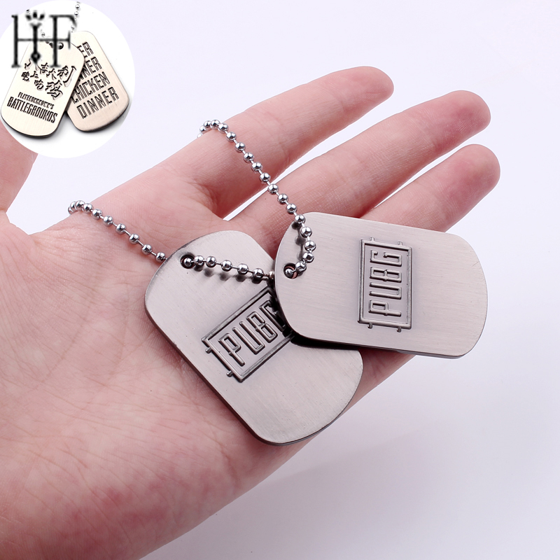 Fashion Game Playerunknown's Battlegrounds Necklaces for Men Women Link Chain PUBG Winner Necklace Male Dog Tag Jewelry Freeship image