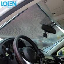 LOEN  40/45/50/58/68*125CM Car Sunshades Windshield Auto Sunshade Side Window Big Size Roller Telescopic Suction Cup