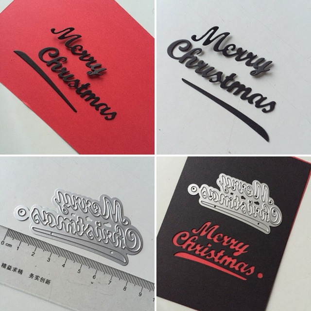 Art Greeting words MERRY CHRISTMAS Scrapbooking cutting die paper crafts thin metal die cuts 42x84mm