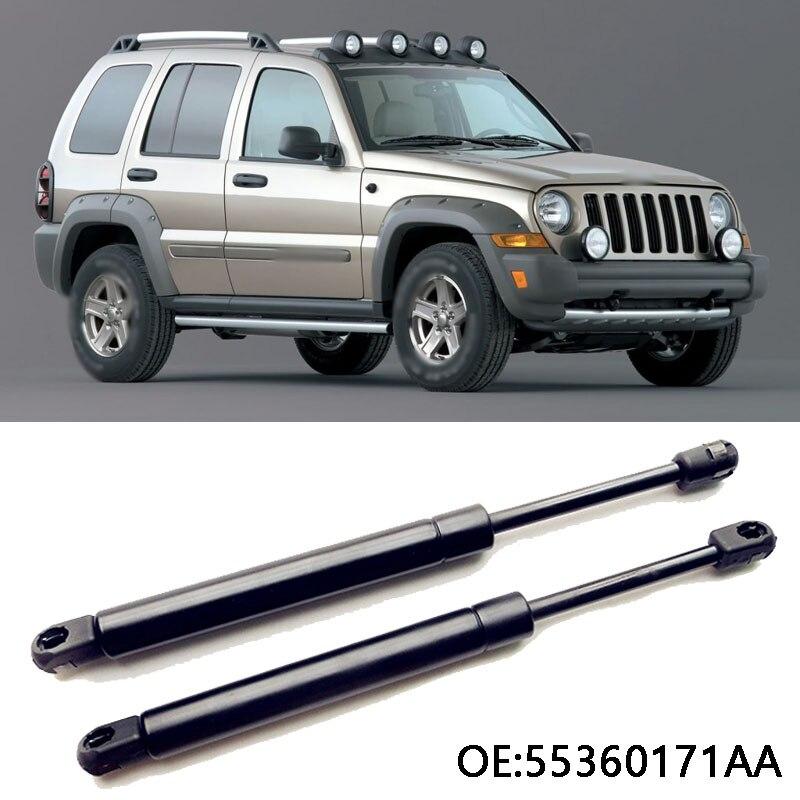 1 jeu de vérins à gaz de hayon arrière Supports de levage à ressort pour Jeep Liberty 2002