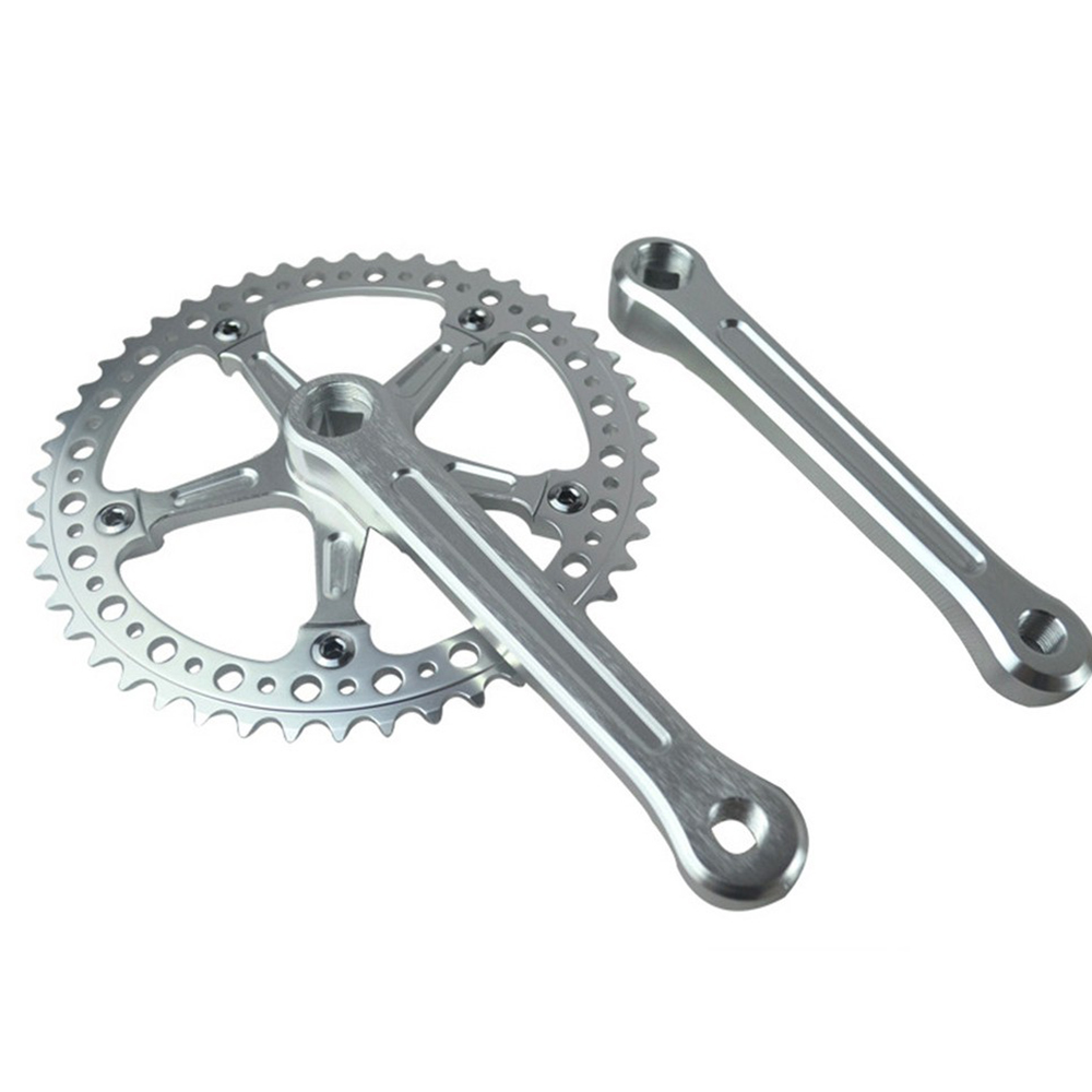 ФОТО Fixed Gear Bike 48T Crankset  chainwheel accessories Cranks Single  Speed road Bicycle Crank set