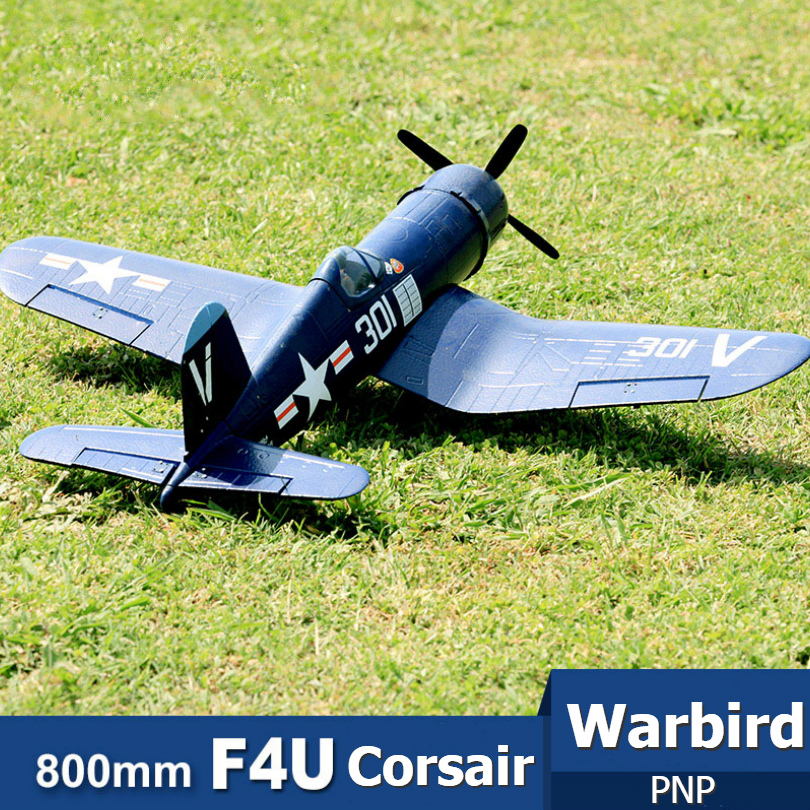 FMS 800MM Mini Warbird F4U Corsair V2 Blue PNP Duralble EPO Scale Radio Control RC Airplane Model Plane Aircraft Avion Small 2S