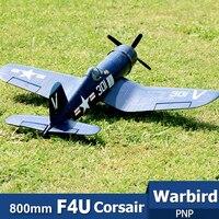 FMS 800MM Mini Warbird F4U Corsair V2 niebieski PNP Duralble EPO skala sterowanie radiowe RC Model samolotu samolot Avion małe 2S w Samoloty RC od Zabawki i hobby na