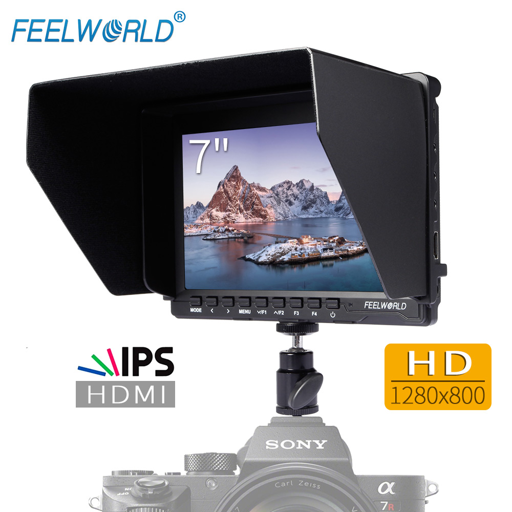 Feelworld 7 IPS Ultra-thin Design 1280x800 HD HDMI On-Camera Field Monitor with Peaking Focus Portable LCD Monitor FW759
