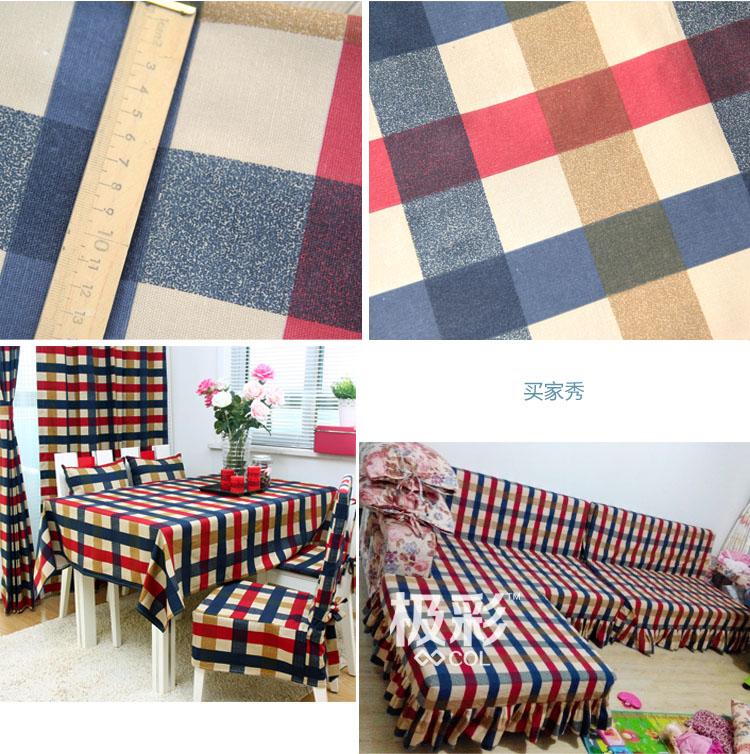 tampa do sofá sofá de Pano cortinas De Linho de Algodão material