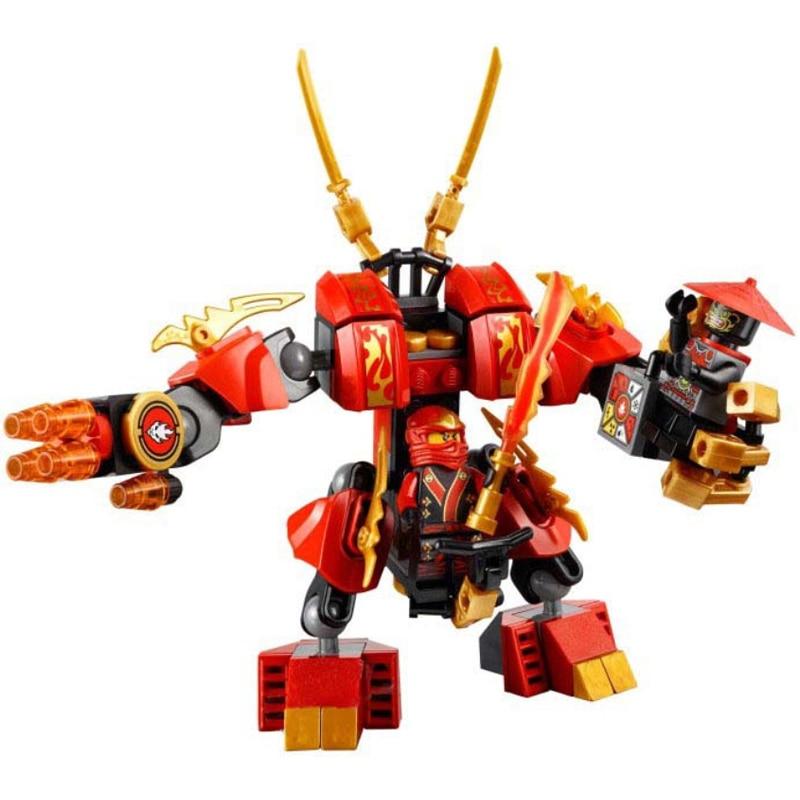 2017 NEW Model 9790 Ninja Bricks Kais Fire Mech Figures Toys Assembled Building Blocks Educational Toys For Children Gifts 9790