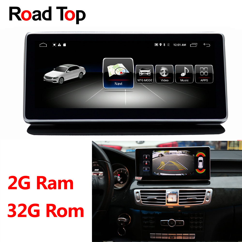 Android 8.1 Octa 8-Core RAM 2G+32G Car Radio GPS Navigation WiFi Bluetooth Head Unit Screen for Mercedes Benz CLS W218 2010-2014