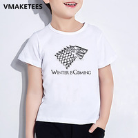 Kids Zomer Korte Mouw Meisjes & Jongens Grappige Kinderen Game Of Thrones Print T-shirt Fashion Casual Baby Kleding, ooo4474