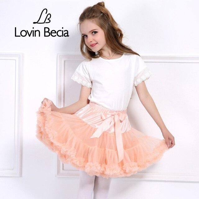 LovinBecia 2018 Baby Mini tutu Skirt fluffy Ballet skirts Children Pettiskirt kids skirts for Girls Princess Party Dance Skirts