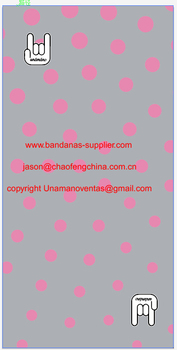Custom made logog printed Tubular bandanas for david fernandez, 100pcs digital printing.