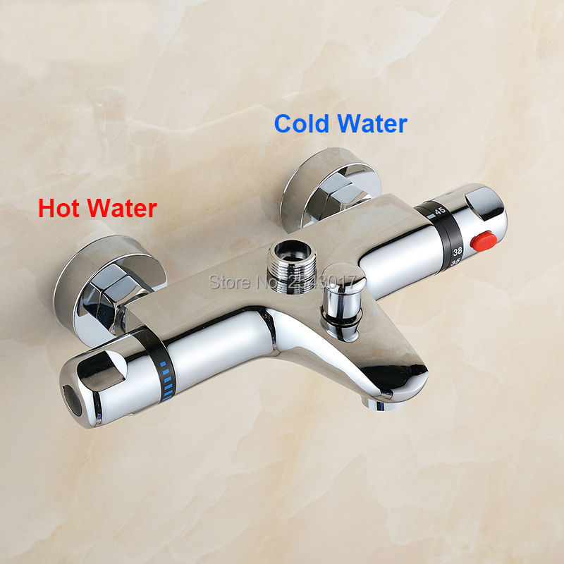 Shower Faucets Shower Copper Mixing Valve Thermostat: Bathroom Shower Set Thermostatic Mixing Valve Copper Brass