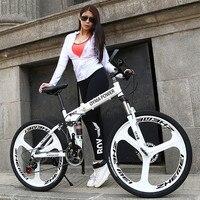 Neue Marke Mountainbike Carbon Stahl Rahmen 24/26 zoll Rad Dual Disc Bremse 24/27 Geschwindigkeit Fahrrad Outdoor Downhill MTB Bicicleta-in Fahrrad aus Sport und Unterhaltung bei