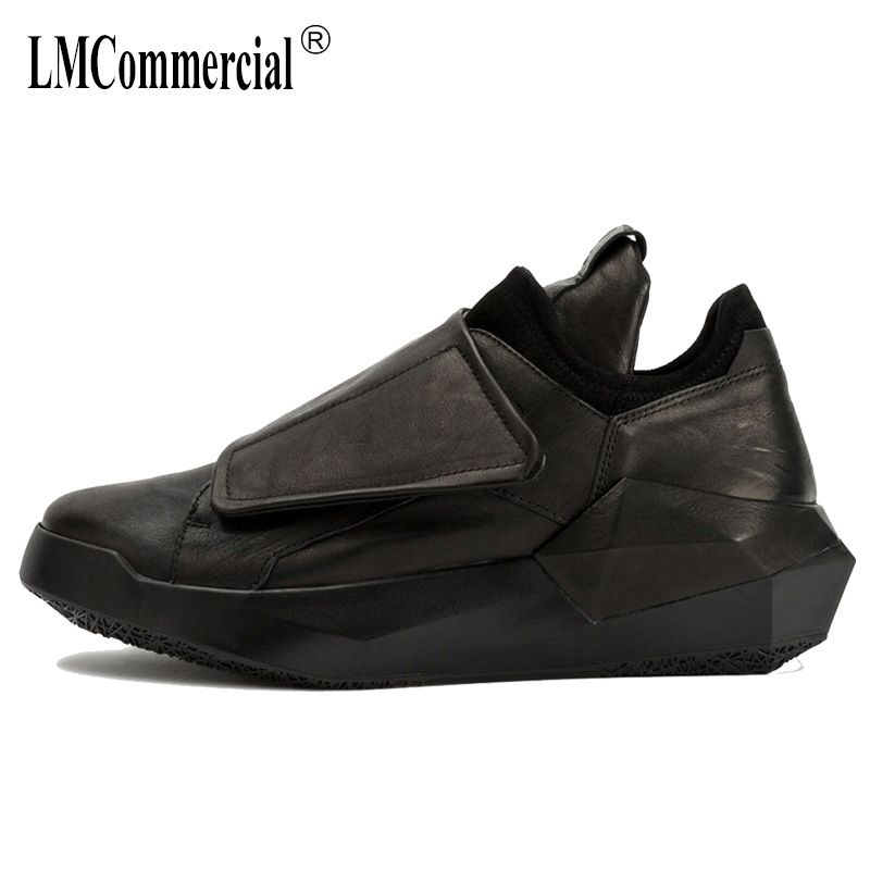 European men s Genuine leather shoes all match cowhide men casual shoes British reto movement breathable