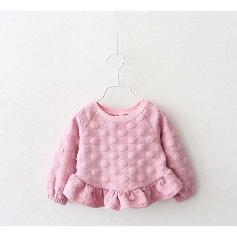 1666cff584 Fashion New Winter Warm Baby Girls Sweaters Long Sleeved O Neck Big Dot  Kids Draped Sweater Dress 3-in Sweaters from Mother   Kids