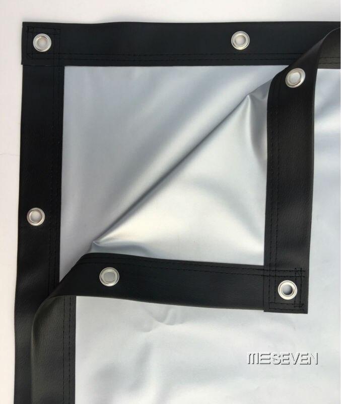 100 pulgadas 16:9 alta calidad portátil PVC metal plata pantalla de ...