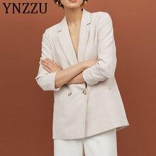 YNZZU 2019 Fall Women Blazers and Jackets Elegant Office Lady Blazer