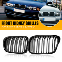 Pair Front Kidney Grille Grilles Gloss Black Car Racing Grills For BMW E39 5 series 525i 528i 530i 1997 1998 1999 2000 2001 2004|Racing Grills|   -
