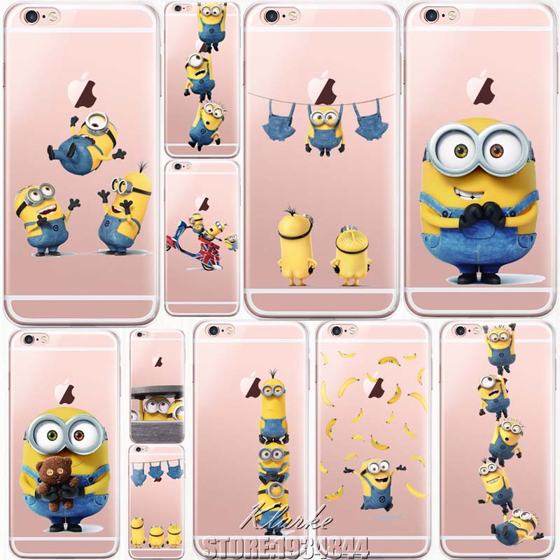 separation shoes 26dac 10baf Super Cute Despicable Me Yellow Minions Designs For Apple iPhone X 5 ...