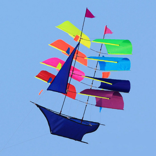 Stereo Sailing Boat Kite Flying Colorful Single Line Kite Outdoor Toy For Children and Grownup  High Quality