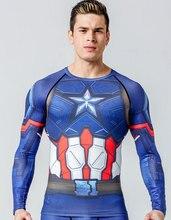 Camiseta hombre ajustada con el diseño del traje de Capitán América