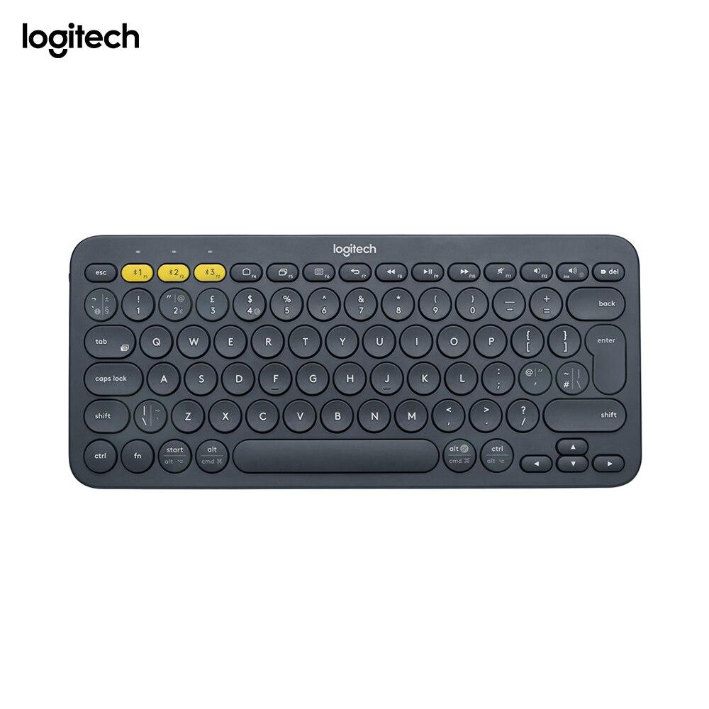 Logitech K380, Mini, sans fil, Bluetooth, QWERTY, gris